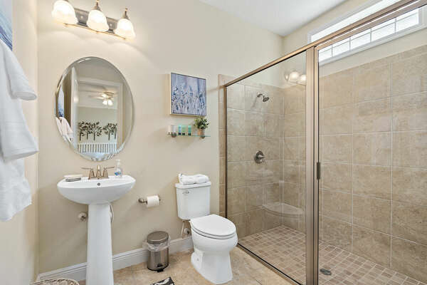 Ensuite bathroom with large walk in shower