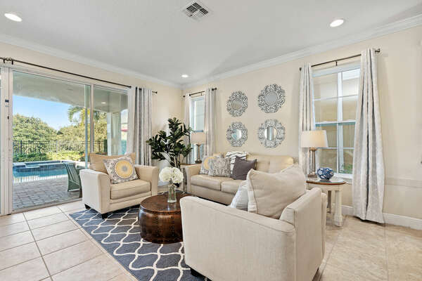 Luxury furnishings provide a home away from home feeling