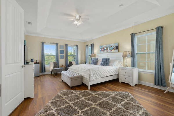 Sleep soundly in this master suite