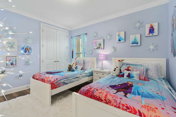 Little princesses will love this ice palace bedroom