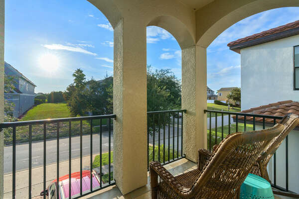 Enjoy private access to the front porch balcony