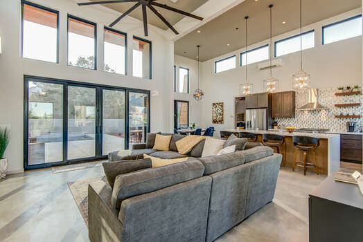 Great Room with Contemporary Decor