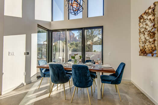 Dining Area That Also Opens Out to the Backyard