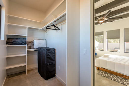 Master 1 Walk-in Closet with a Rollaway Twin Bed