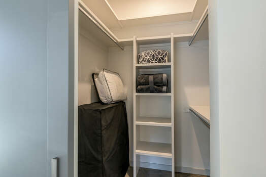 Master 2 Walk-in Closet with a Rollaway Twin Bed