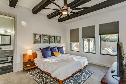Master Bedroom 2 with a King Bed and Plenty of Natural Light