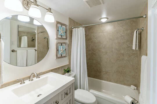 Bright and updated bathroom.
