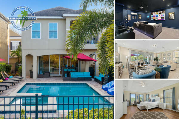 Welcome to Luxurious Leisure Villa, an extravagant 5 bedroom villa with an in-home movie theater and custom-designed kids bedrooms! | PHOTOS TAKEN: November 2020