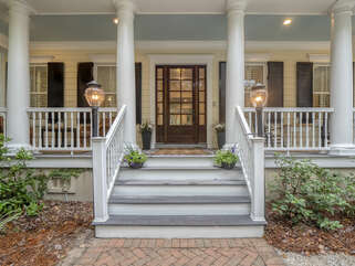 Beautiful front porch to sit and relax.