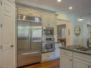 Stainless appliances accent this wonderful kitchen.