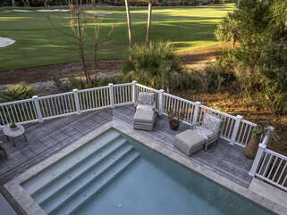 View of the pool from the master deck
