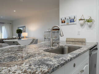Granite Countertops and open bar into the Great Room