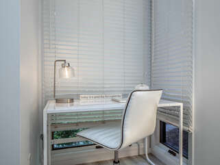 Perfect nook for working or postcard writing