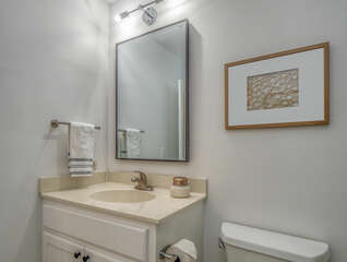 A second sink area in the master bath.