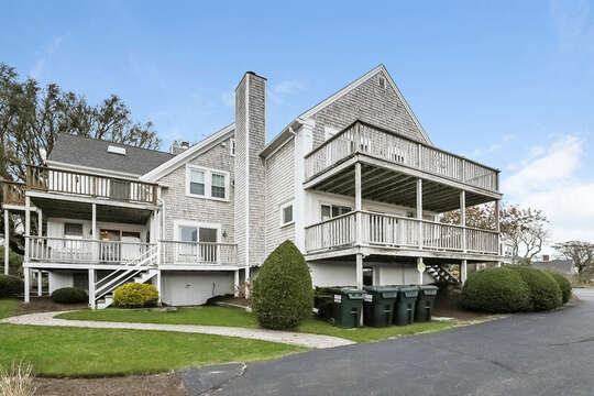 View of Back of Entire Building - entrance is to the left.  323 Main Street Chatham Cape Cod - New England Vacation Rentals