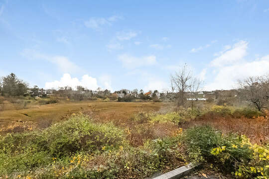 View of conservation marshes and Little Mill Pond. 323 Main Street Chatham Cape Cod - New England Vacation Rentals