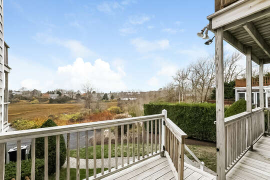 Deck View of conservation land and Little Mill Pond.  323 Main Street Chatham Cape Cod - New England Vacation Rentals