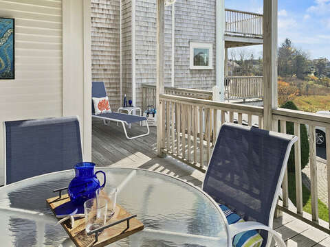 Deck Dining.  323 Main Street Chatham Cape Cod - New England Vacation Rentals