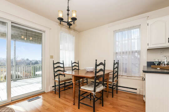 Dining room with seating for 5.  323 Main Street Chatham Cape Cod - New England Vacation Rentals
