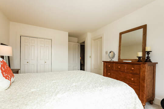 Closet and entrance to ensuite bathroom.  323 Main Street Chatham Cape Cod - New England Vacation Rentals
