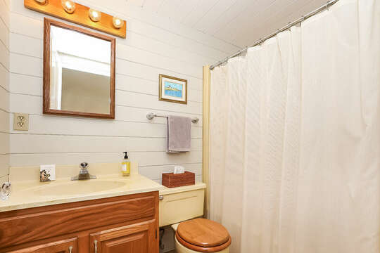 Ensuite full bathroom to Bedroom #1. 323 Main Street Chatham Cape Cod - New England Vacation Rentals