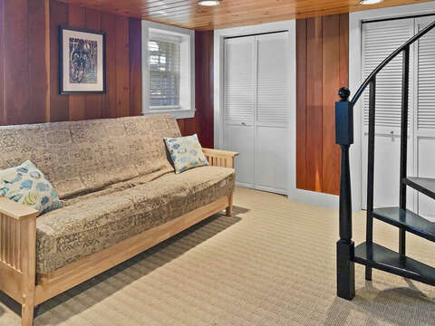 Lower Level for remote work/learn and extra sleeping for 1: 323 Main Street Chatham Cape Cod - New England Vacation Rentals