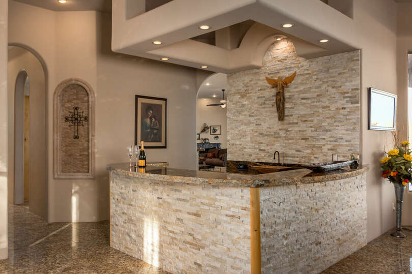 View of wet bar