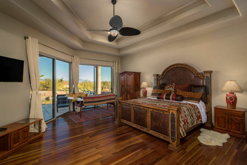 View of the master bedroom