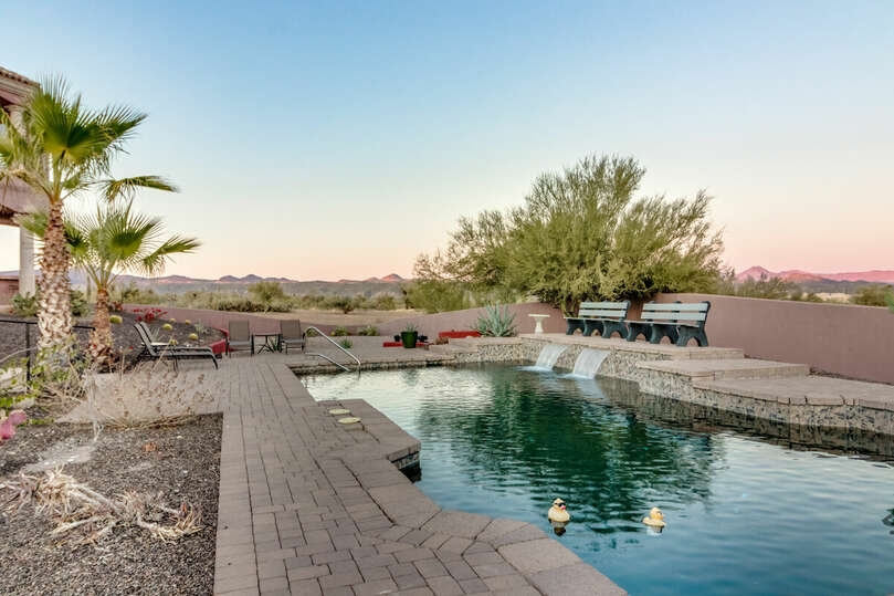 Pool into the desert