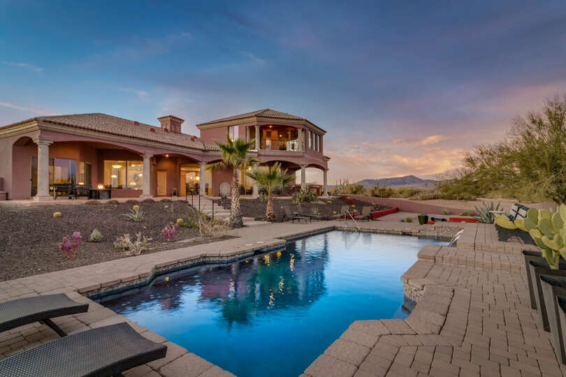 View of the home from the pool
