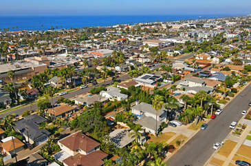 This aerial view shows what a quint location!
