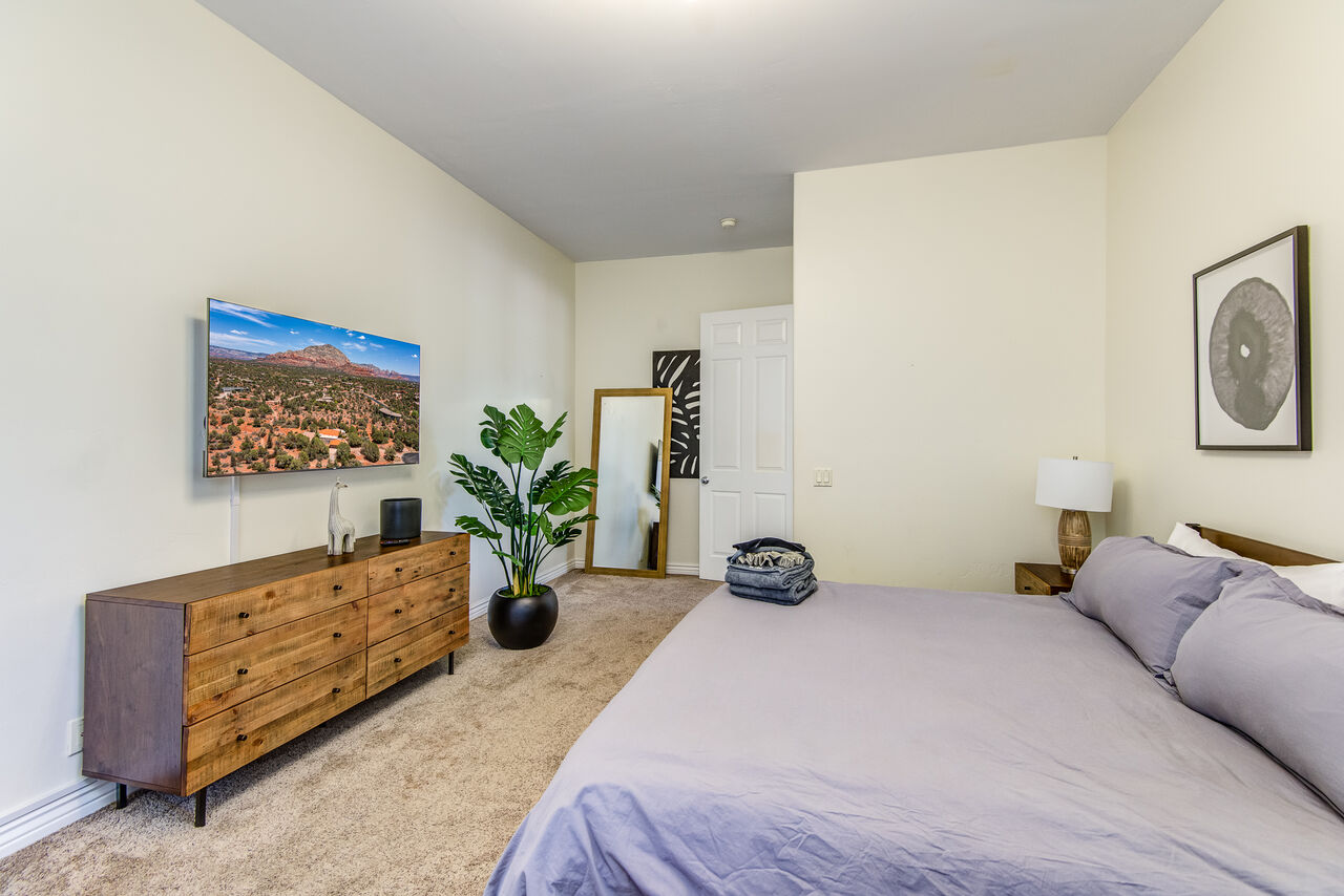 Master Bedroom with a King Bed and Smart TV