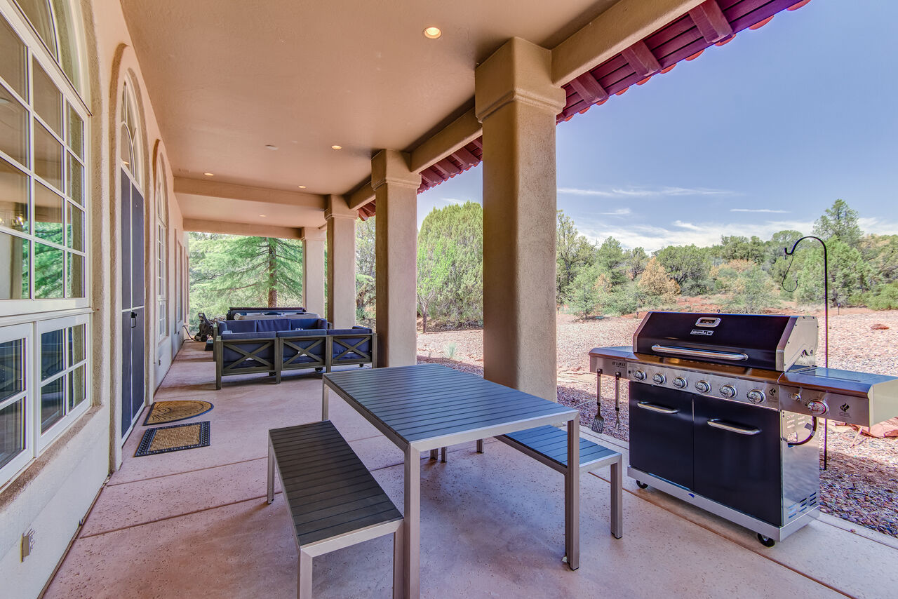 Spacious Covered Patio - Great for Any Time of Day or Night