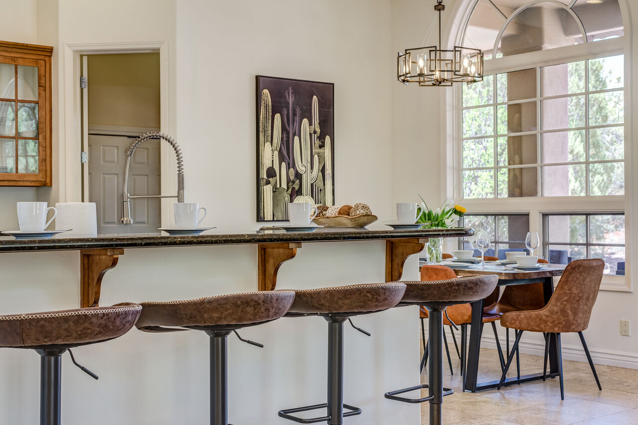 Stone Counters and Bar Seating