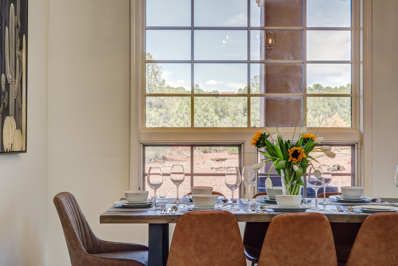 Enjoy the Light and Views While Gathered Around the Dining Table