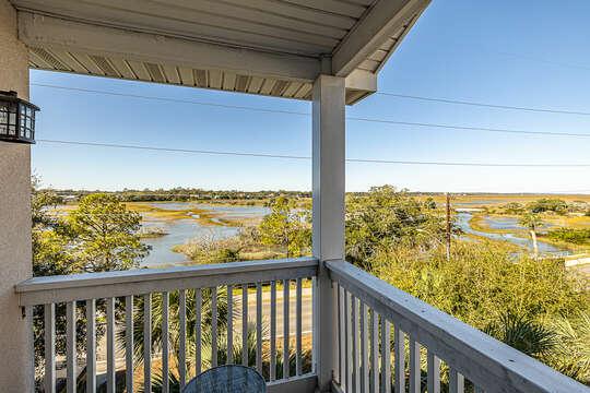 Amazing 3rd Floor Guest Bedroom balcony vies of the marsh
