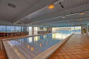 Indoor heated pool with Gulf View