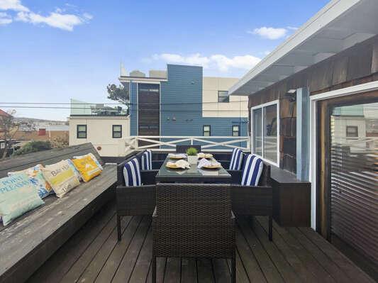 Top Floor Deck with Bay Views