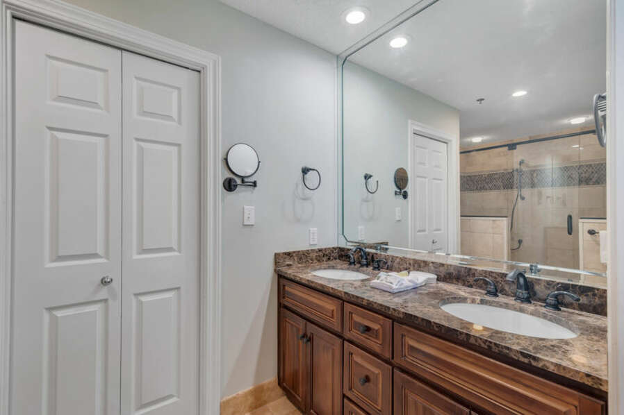 Private Master Bathroom with Double Sink Vanity