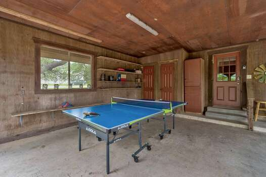 Ping Pong Table in the Carport