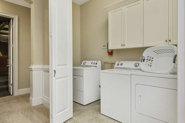Do your laundry in the private laundry room