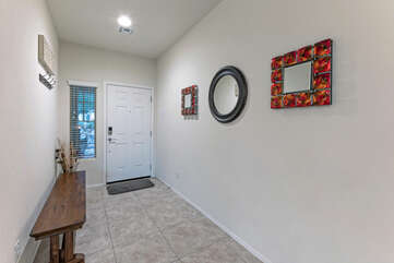 Entrance foyer of our 4 BR, 2 BA  home.