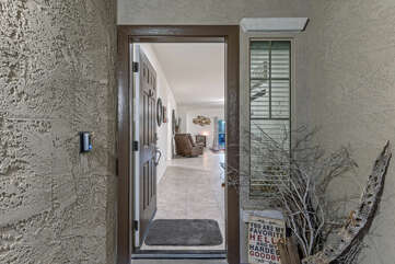 Front entrance to your home away from home.