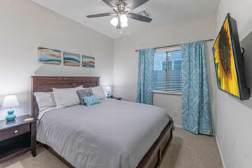 The fourth bedroom includes the standard appealing features.