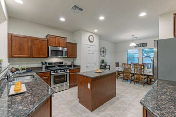 Open floor plan provides spacious and attractive living spaces.