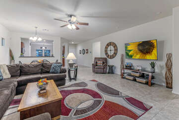 Open floor plan offers spacious and attractive living spaces.