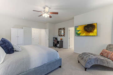 ALL bedrooms have ceiling fans and TVs.