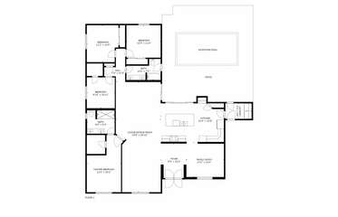 Floor plans of the house and back yard