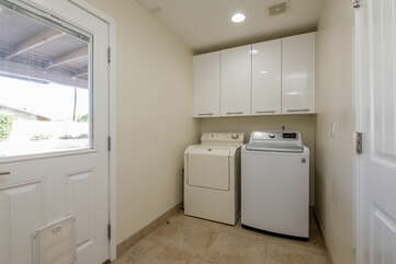 Laundry Room with Access to the Backyard