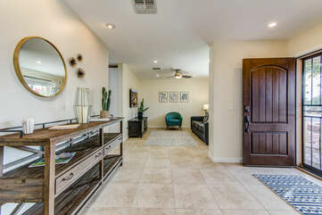 Entryway into the Single Level Home